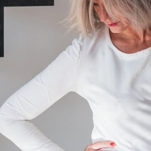 Top asymétrique Penthésilée post-mastectomie