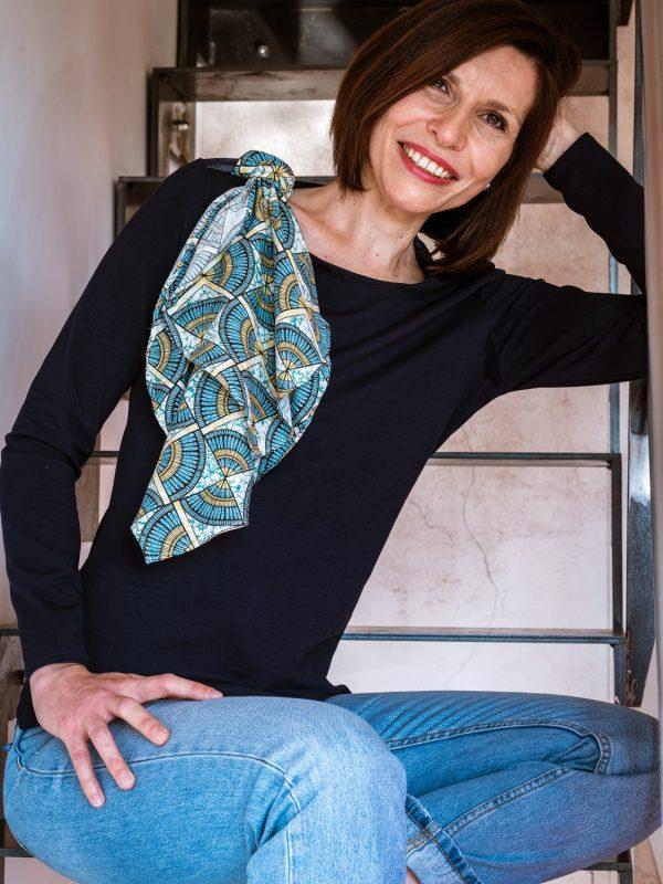 Top penthésilée et foulard wawax