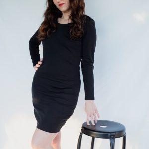 robe courte en jersey noir