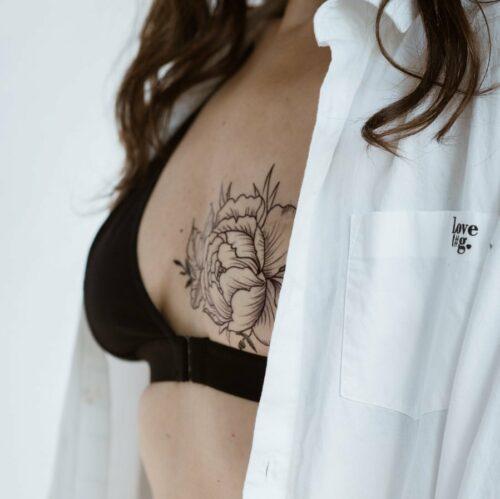 soutien-gorge mono-bonnet post-mastectomie en coton noir
