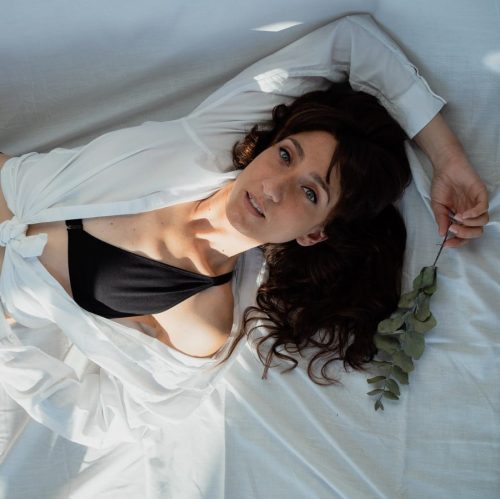 soutien-gorge mono-bonnet plat post-mastectomie en coton noir
