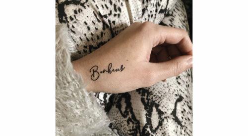 tatouage temporaire bonheur