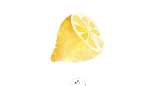 tattoo temporaire citron