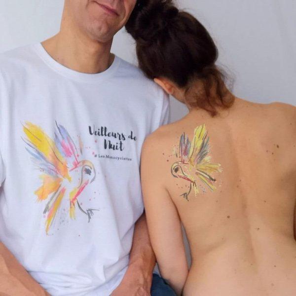 tatouage éphémère chouette porte bonheur